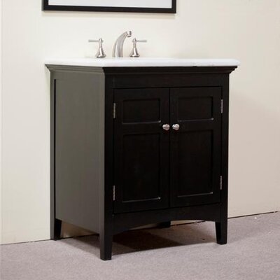 Legion Furniture 30&quot; Woodbridge Sink Vanity in Distressed Dark Espresso