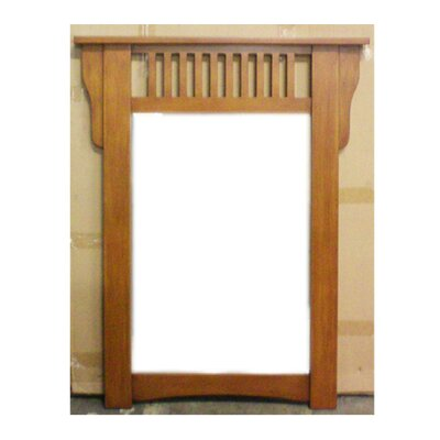 "Legion Furniture 30"" Mission Wall Mirror in Medium Pecan"