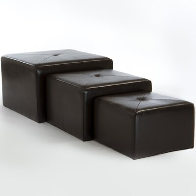 Home Loft Concept Juniper Nested Cube Ottoman (Set of 3)