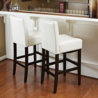 Home Loft Concept Lopez Bonded Leather Counter Stool (Set of 2)