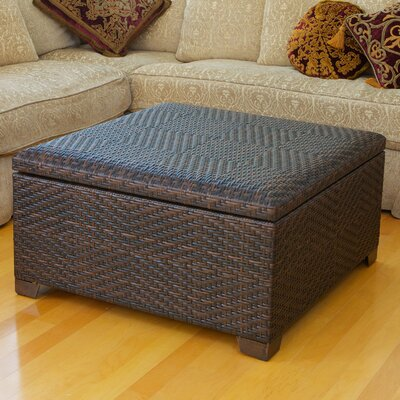Home Loft Concept Wicker Cocktail Ottoman