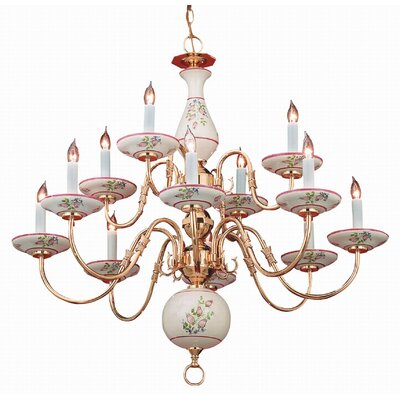 Classic Ceramic 12 Light Chandelier