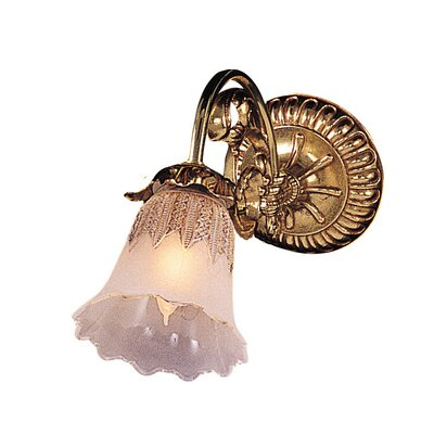 Crystorama Cecile 1 Light Wall Sconce
