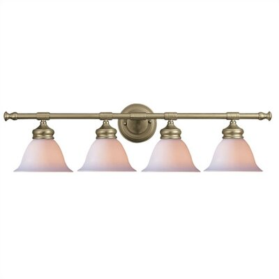 Crystorama 4 Light Bath Vanity Light