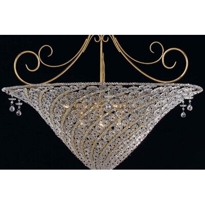 Crystorama Signature 10 Light Inverted Pendant