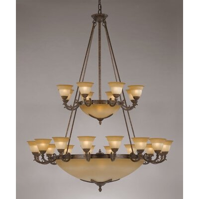 Crystorama Oxford 33 Light Chandelier