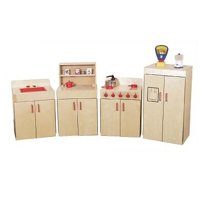 Wood Designs 4 Piece Classic Appliances Set with Two Counters