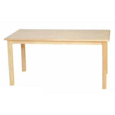 "Wood Designs 24"" Leg Rectangular Table"