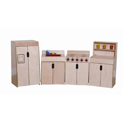Wood Designs Tip-Me-Not 4 Piece Deluxe Appliances Set with Two Counters