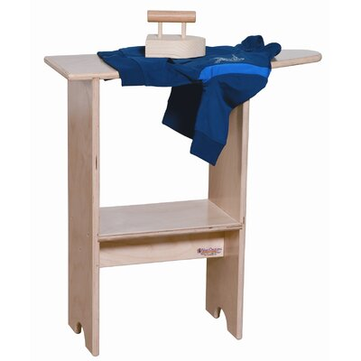 Wood Designs Stationary Ironing Board with Iron