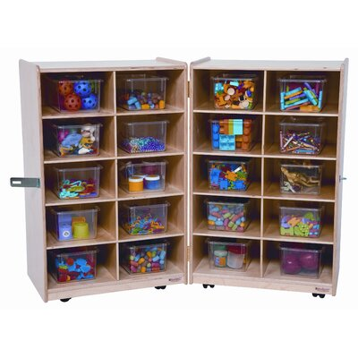 Wood Designs Twenty Tray Folding Vertical Storage Unit