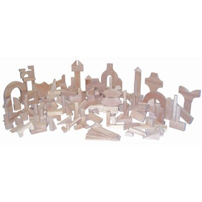Wood Designs 183 Piece Kindergarten Blocks Set