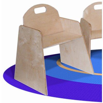 Wood Designs Woodie 5&quot; Plywood Classroom Stackable Tot Chair (Set of 2)