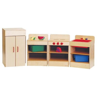Wood Designs Healthy Kids Four Tot Appliances with Standard Hutch