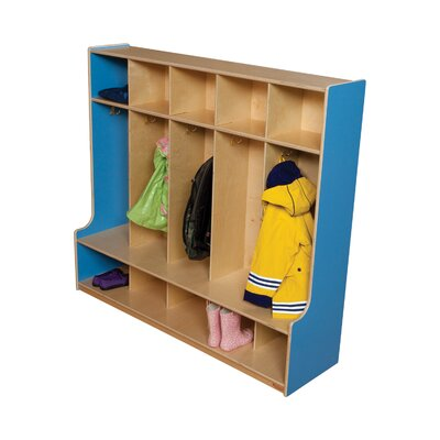 Wood Designs Five Section Offset Seat Locker