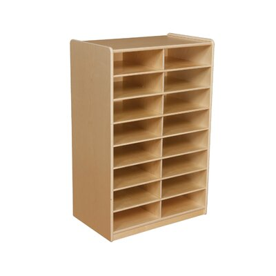 "Wood Designs Storage Unit with 3"" 12 Letter Trays"