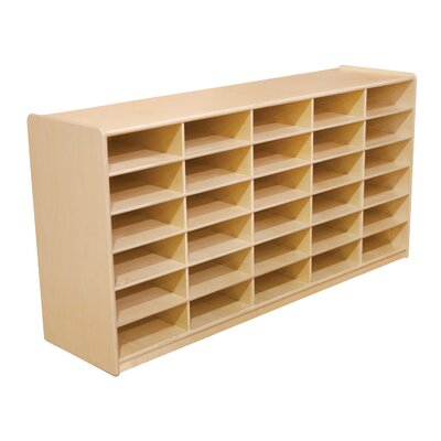 "Wood Designs Storage Unit with 3"" 30 Letter Trays"