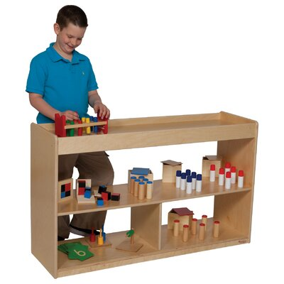 "Wood Designs Natural Environment 30"" Math/Language Cabinet"