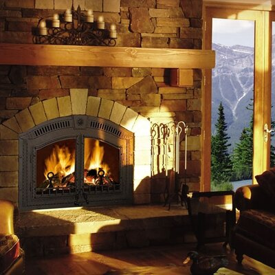 High Country Wood Burning Fireplace
