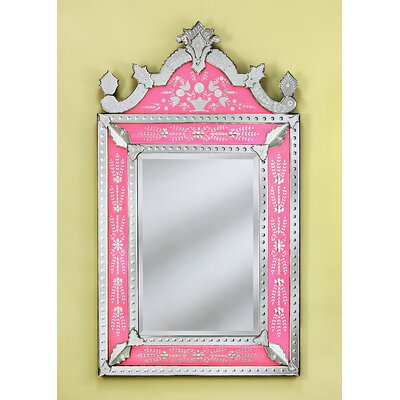 Venetian Gems Natasha Small Wall Mirror in Pink