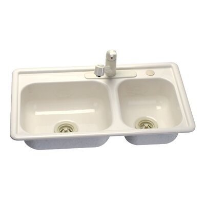 "Lyons Industries Deluxe 33"" x 19"" Kitchen Sink"