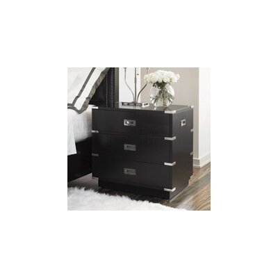 Lexington Black Ice 3 Drawer Nightstand