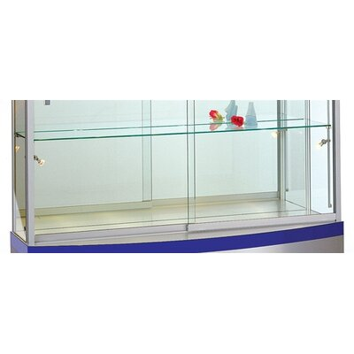 Tecno Display Optimal Visual Impact Curved Wall Display Case - Brushed Silver Frame