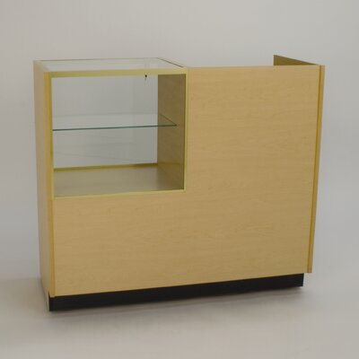 Tecno Display Rectangular Cash Wrap with Glass Display