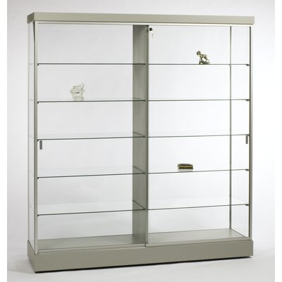 "Tecno Display 72"" Wall Display Case with Divider"