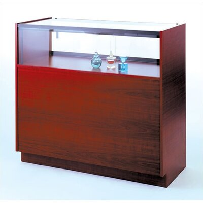 Tecno Display Quarter-Vision Jewelry Case with Wood Sides and Standard Finishes