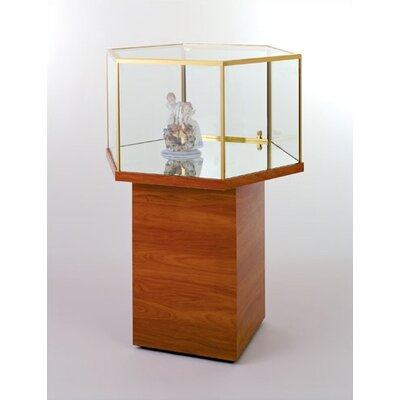 Tecno Display Hexagonal Free Standing Jewelry Case
