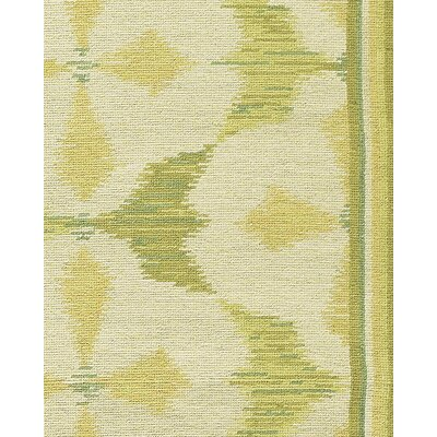 Asmara, Inc. Thaleia Needlepoint Timur Green Flowers Rug