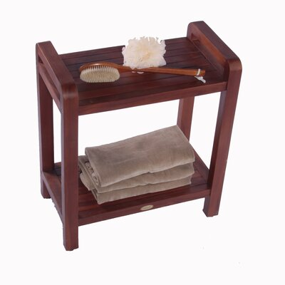 Decoteak LiftAide Teak Ergonomic Spa Shower Bench