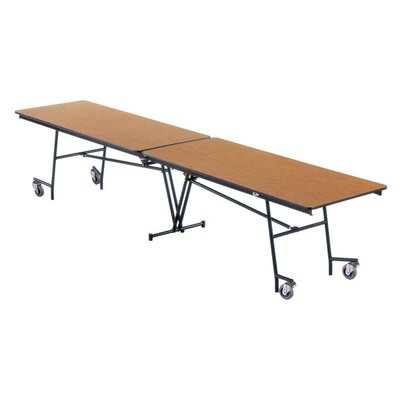 "Midwest Folding Products 27"" x 121"" x 30"" Rectangular Mobile Table Unit"
