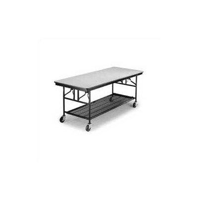 Midwest Folding Products Mobile Utility Table, Laminate Top