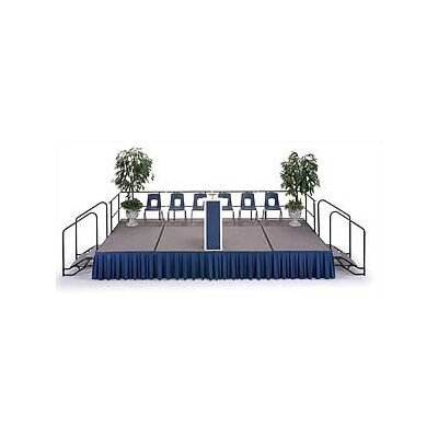 Midwest Folding Products 3' x 8' Portable Stage with Carpeted Deck