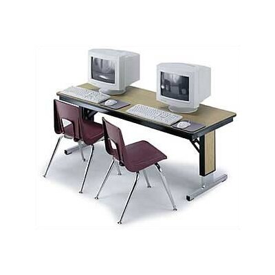 "Midwest Folding Products 30"" x 72"" TLA Series Adjustable Height Conference Folding Table"