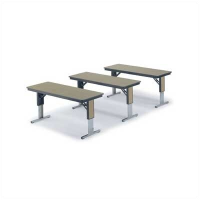 Midwest Folding Products 36&quot; x 72&quot; TLA Series Adjustable Height Conference Folding Table