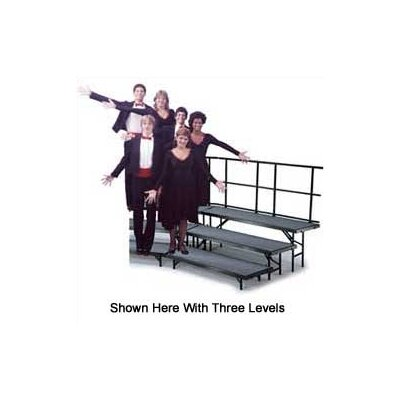 Midwest Folding Products Four-Level Standing Choral Riser with Polyproplene Deck