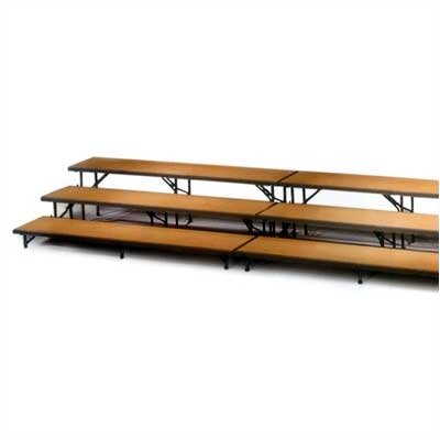 Midwest Folding Products Three-Level Straight Riser with Hardboard Deck