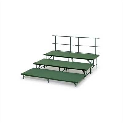 Midwest Folding Products Band Riser Straight Section with Carpet