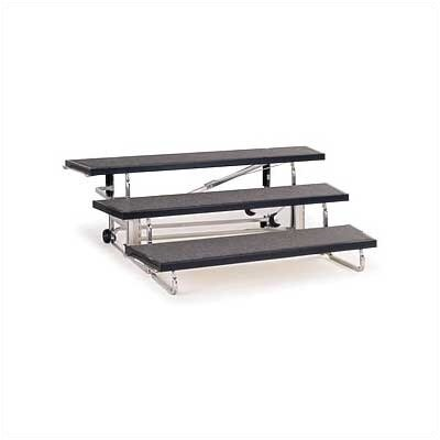 Midwest Folding Products 3-Level 48&quot; Transfold Choral Riser with Optional 4th Step Add-on