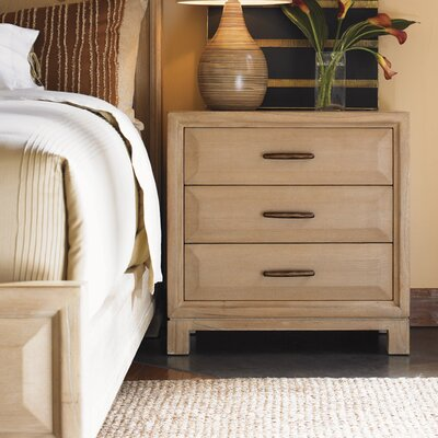 Tommy Bahama Home Road to Canberra Ashmore 3 Drawer Nightstand
