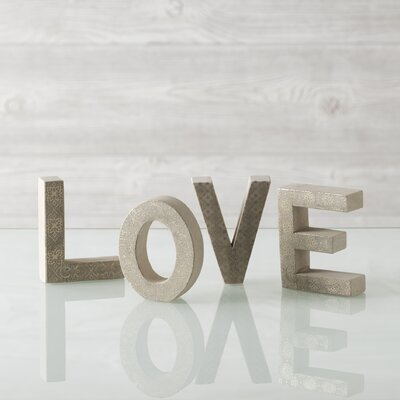 "Shiraleah ""Love"" Block Print Display Letters"