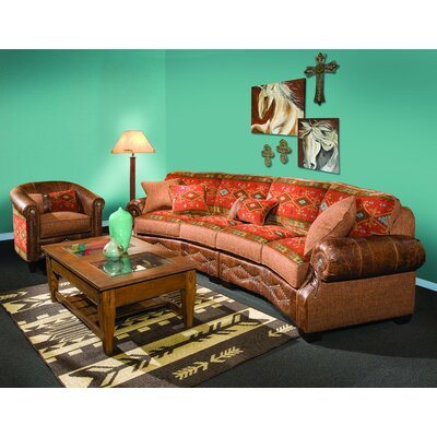 Chelsea Home Jackson Leather Sectional