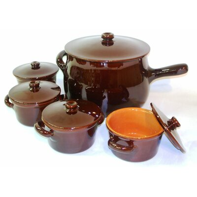Piral Italian Terracotta Stew Soup Pot and Crock with Lid