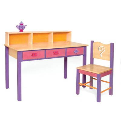 "Room Magic Little Girl Teaset 24"" W Writing Desk and Chair Set"