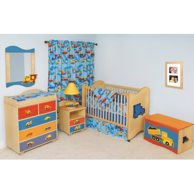 Room Magic Boys Like Trucks 2-in-1 Convertible Crib Set