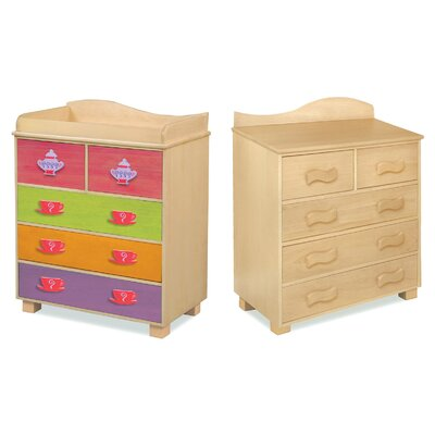Room Magic Little Girl Teaset 5-Drawer Chest