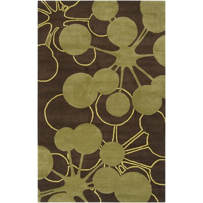 Jef Designs Bubble Brown/Green Rug
